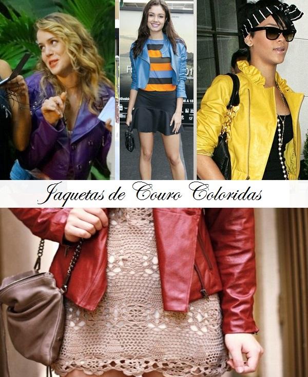 Jaquetas coloridas couro moda Jaquetas de Couro Coloridas Vermelha, Azul, Rosa, Verde, Marrom, Preta