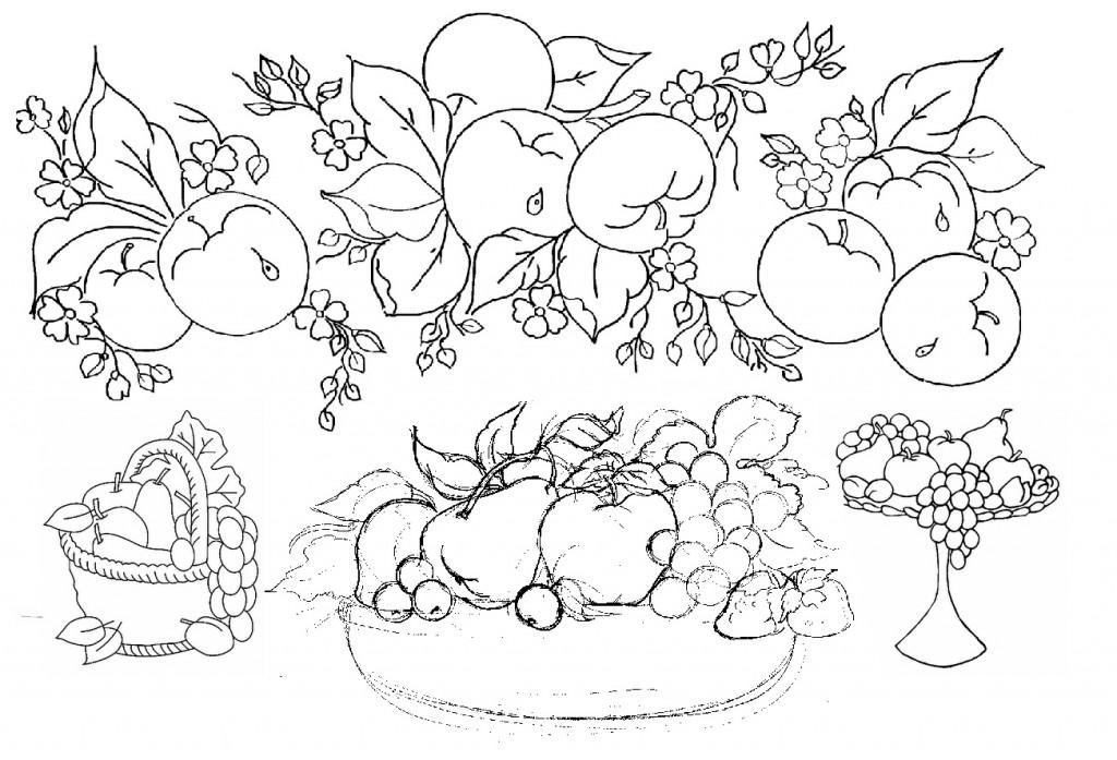 Pintura Em Tecido Como Fazer Riscos De Frutas Flores Video Tutorial
