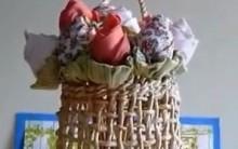 Como Fazer Rosa de Tecido: Vídeo com Passo a Passo-Recicle- Decoração