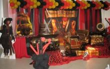 Festa Piratas do Caribe: Aniversário Infantil, Decoração, Bolo e Fotos