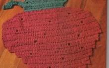 Tapetes Crochê de Frutas cozinha: Modelos, Gráficos de crochê, Fotos