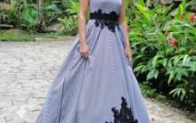 Vestido de Noiva Diferente: Listrados, Coloridos, Novidades e Fotos
