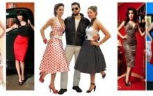 Moda anos 50: Anos Dourados, Temas, Vestido de Bolinha, Topetes