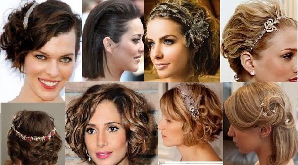 Penteado para festa cabelo curto