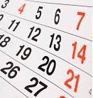 Feriados Nacionais de 2014 – Pontos Facultativos, Emenda de Feriado