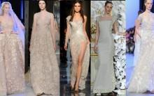 Vestidos de Noiva Bordados, Renda – Modelos Grife com fotos, Tendência
