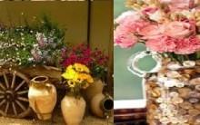 Vasos Diferentes Reaproveitando para Decorar Casa com Flores