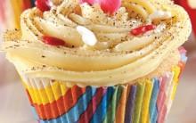 Receita Cupcake de Fubá Cremoso Cobertura Doce de leite