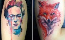 Tatuagem em Aquarela – Tatoos Diferentes, Fotos