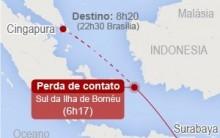 Avião Caiu na Indonésia Notícias e Foto Avião Encontrado