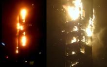 Incêndio no Prédio em Dubai – Vídeo Edifício em Chamas Foto