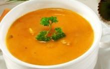 Sopa de Abóbora Moranga com Carne Seca e Legumes