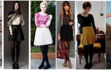 Saia plissada para o inverno. Dicas de tendências da moda.