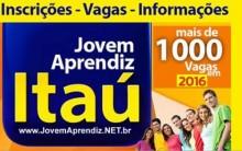 Jovem Aprendiz Itaú 2016 – Inscrição Online e Vagas