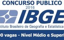 Concurso Público do IBGE 2016 – Vagas e Site para Inscrição