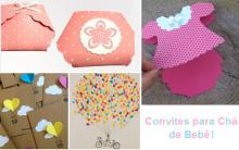 Convites para Chá de Bebê: Como Fazer, Modelos e Moldes para Imprimir