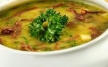 Sopa Creme de Ervilha Seca com Linguiça Receita Passo a Passo