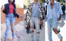 Jeans Super Destroyed – Moda Casual, Dicas de Tendências