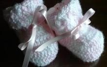 Sapatinho de Crochê para Recém-nascido Receita com Fotos PAP