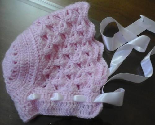 073a815fffbef Touca para Bebê em Crochê com Modelo Vintage – Receita PAP
