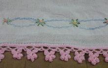 Bico de Crochê de Flor – Como Fazer PAP Barrado de Crochê Rosinha