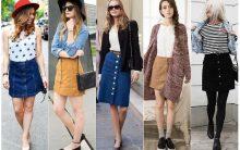 Saias com Botões – Como usar, Comprar, Dicas de Looks da Moda