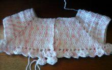 Blusinha de Crochê para Criança – Casaco Infantil Ponto Leque