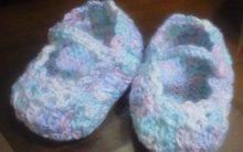 Sapatinho de Crochê Colorido para Menina – Receita PAP e Fotos