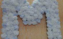 Como Fazer Flor de Papel Crepom para Preencher Letras com Passo a Passo