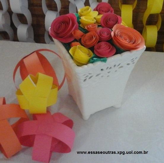 Como Fazer Flor De Papel Em Casa Decoração De Festas Com