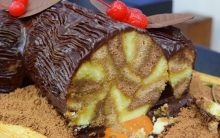 Bolo Tronco do Mais Você 31/03/17 – Bolo de Chocolate com Baba de Moça da Chef na Ana Maria Braga