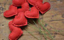Como Fazer Coração de Feltro: Passo a passo para Decoração de Noivado, Aniversário de Namoro