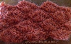 Ponto Concha de Crochê com Linha Fina, Média e com Lã Grossa – Diferença com Amostra