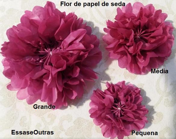 Como Fazer Flor De Papel De Seda Tipo Dália Flor De Papel