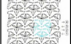Ponto de Crochê para Casaquinho de Bebê – Ponto Puf em Leques com Gráfico