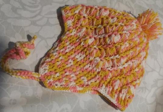 10de59a256796 Gorro de Crochê com Protetor de Orelhas – Ponto em Diagonal e Barra ...